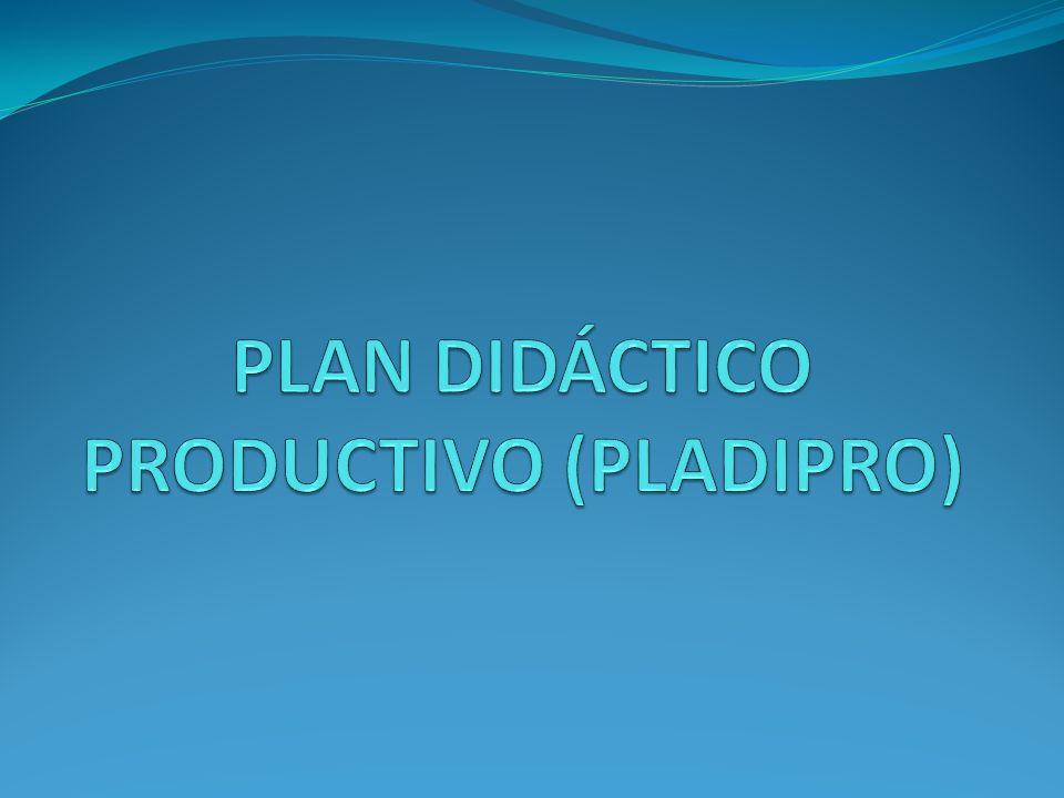PLAN DIDÁCTICO PRODUCTIVO (PLADIPRO)