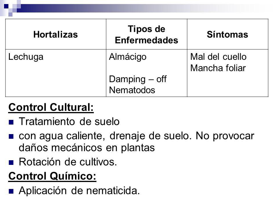 Aplicación de nematicida.