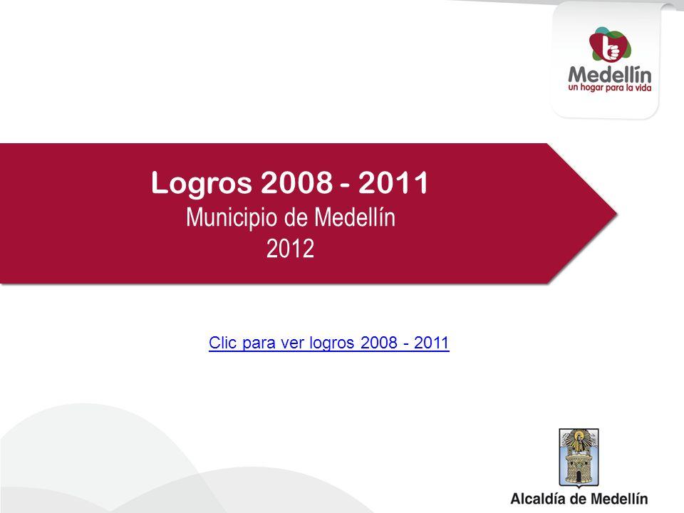Logros 2008 - 2011 Municipio de Medellín 2012