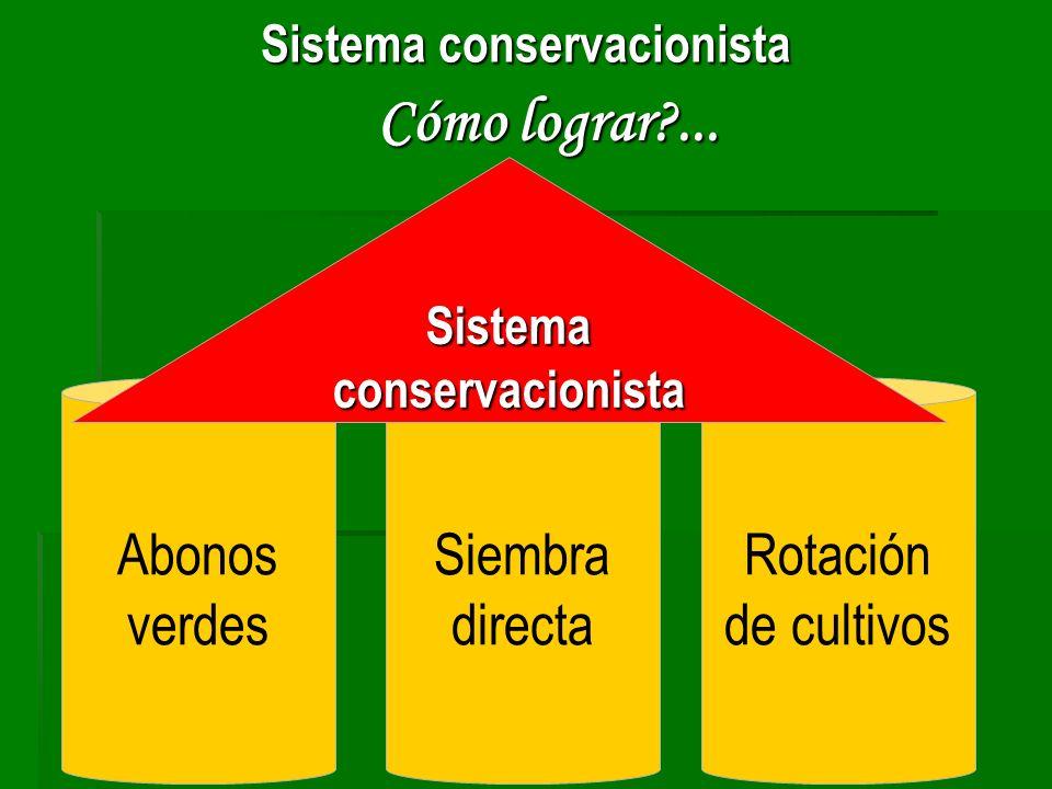 Sistema conservacionista Sistema conservacionista