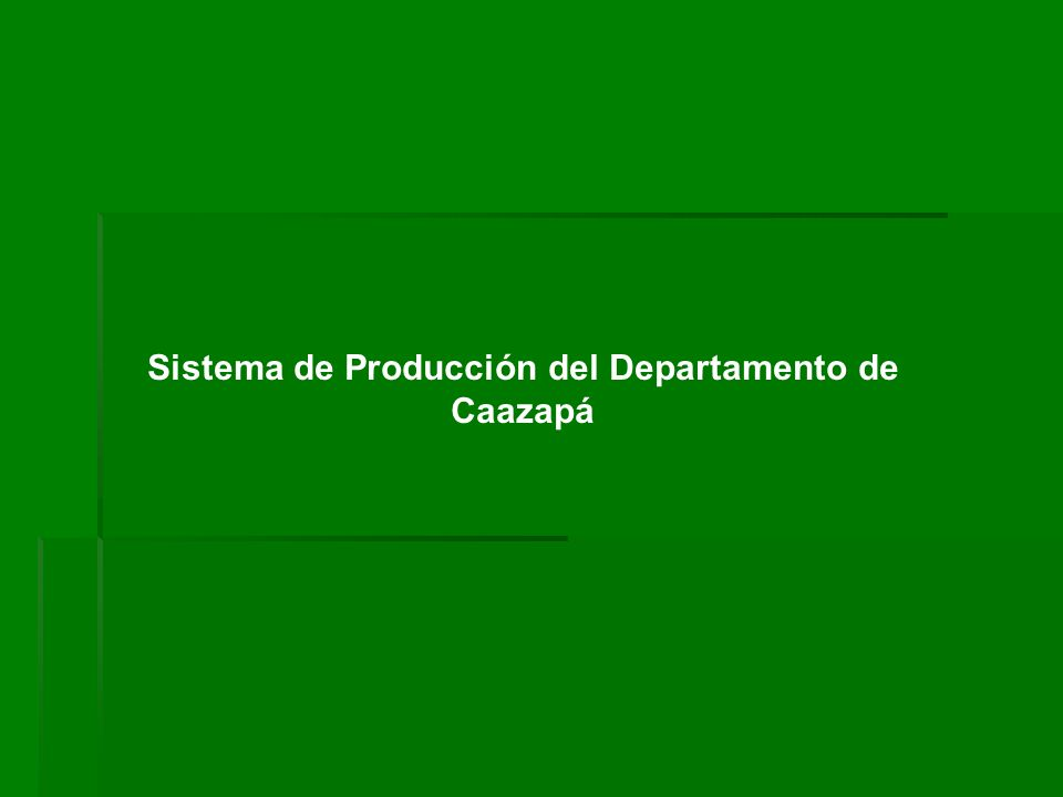 Sistema de Producción del Departamento de Caazapá