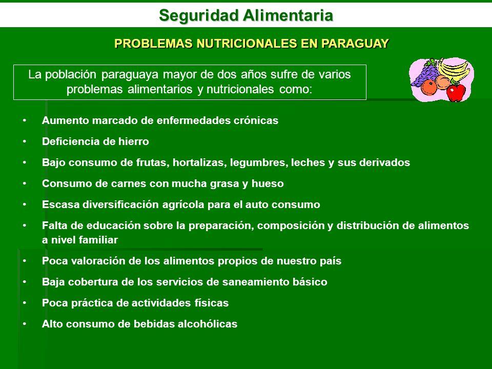 Seguridad Alimentaria PROBLEMAS NUTRICIONALES EN PARAGUAY