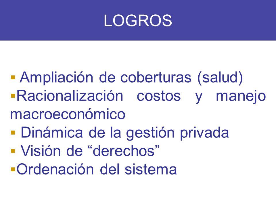 LOGROS Ampliación de coberturas (salud)