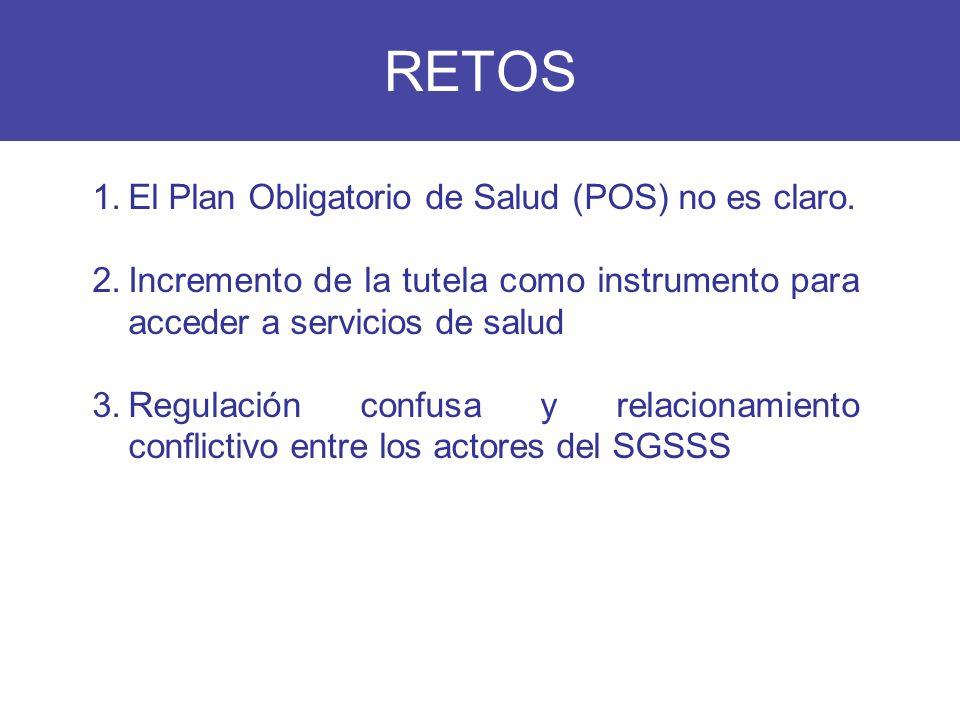 RETOS El Plan Obligatorio de Salud (POS) no es claro.