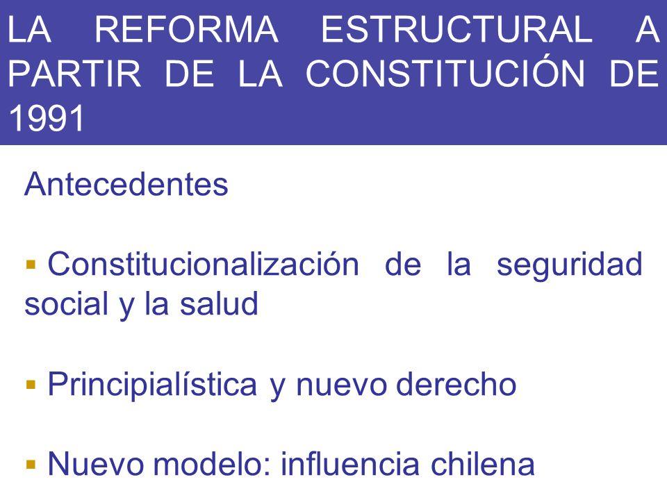 LA REFORMA ESTRUCTURAL A PARTIR DE LA CONSTITUCIÓN DE 1991