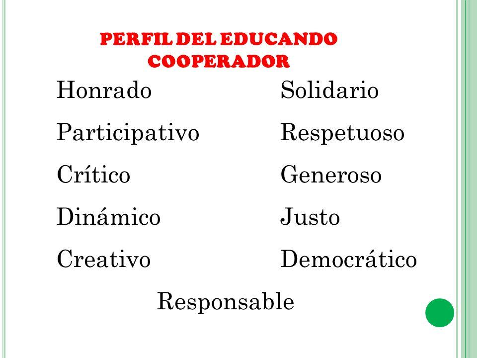 PERFIL DEL EDUCANDO COOPERADOR