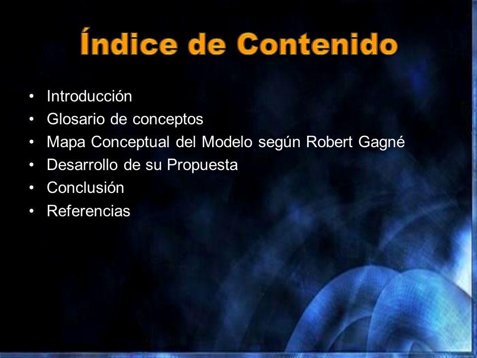 Índice de Contenido Introducción Glosario de conceptos