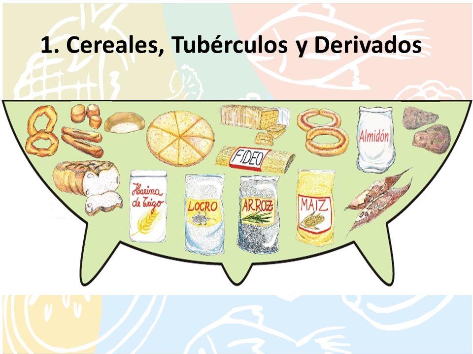 1. Cereales, Tubérculos y Derivados