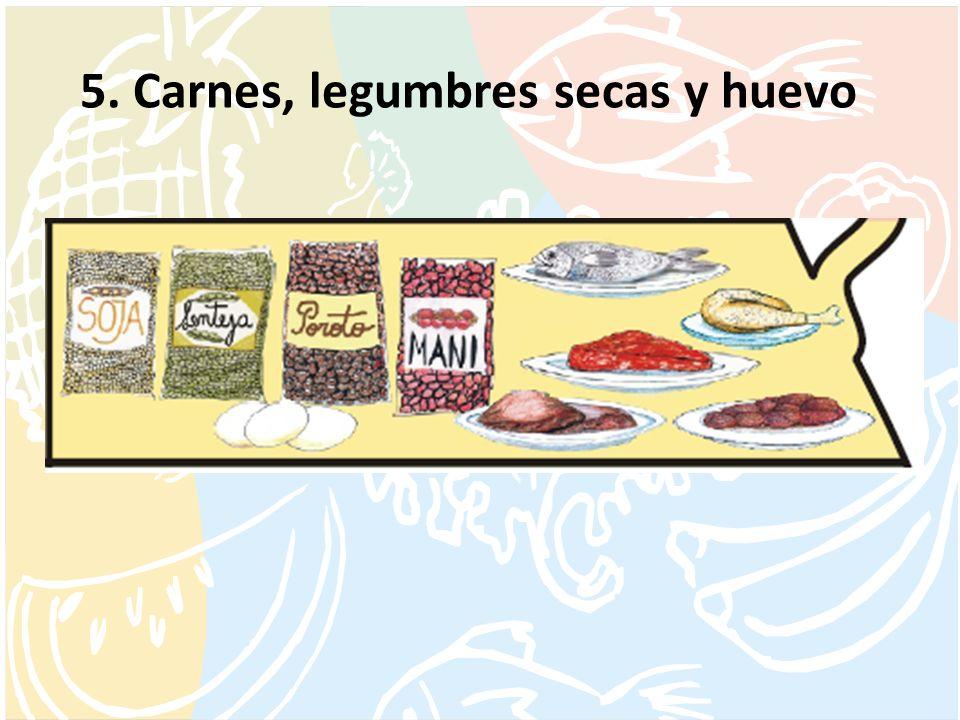 5. Carnes, legumbres secas y huevo