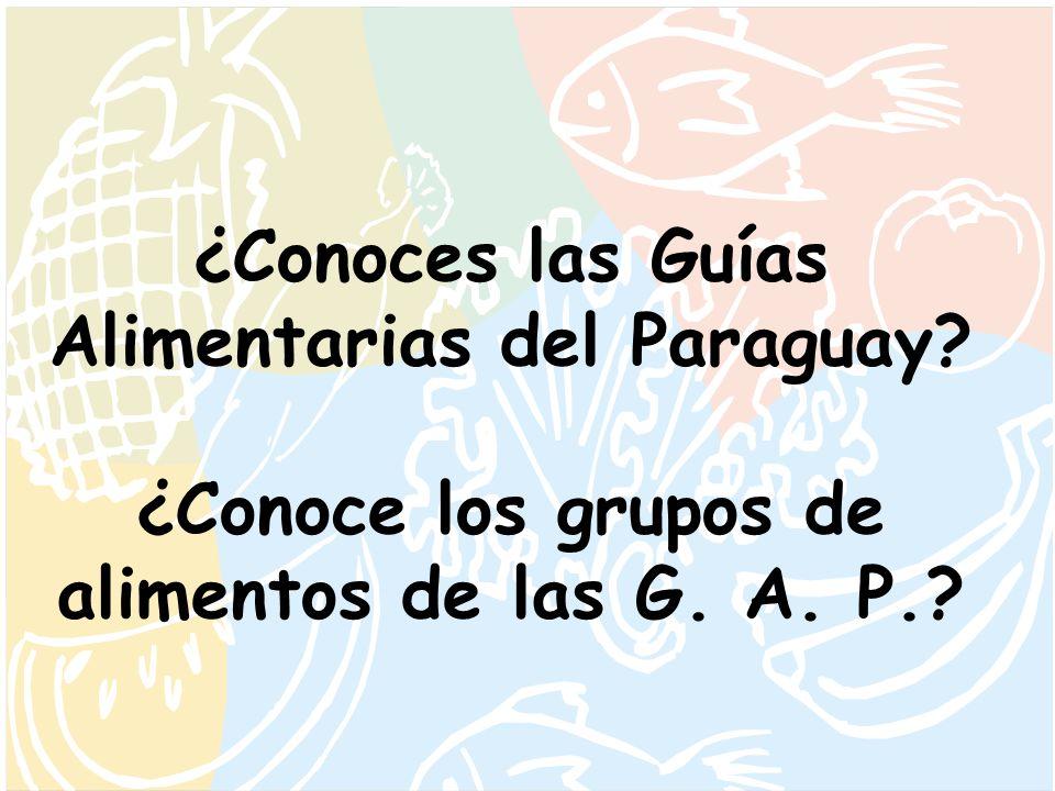 ¿Conoces las Guías Alimentarias del Paraguay