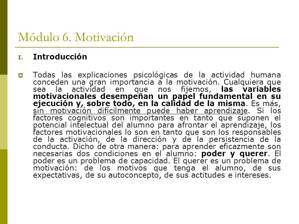 Módulo 6. Motivación Introducción