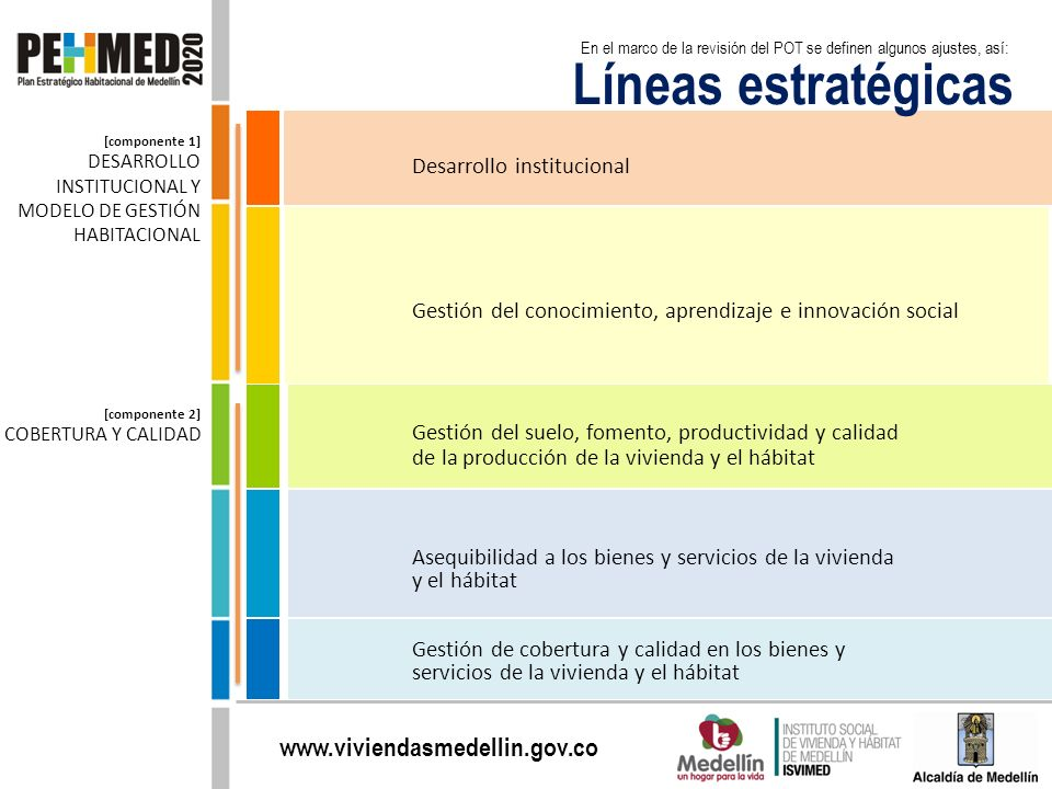 Líneas estratégicas Desarrollo institucional
