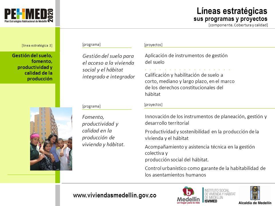 Líneas estratégicas sus programas y proyectos