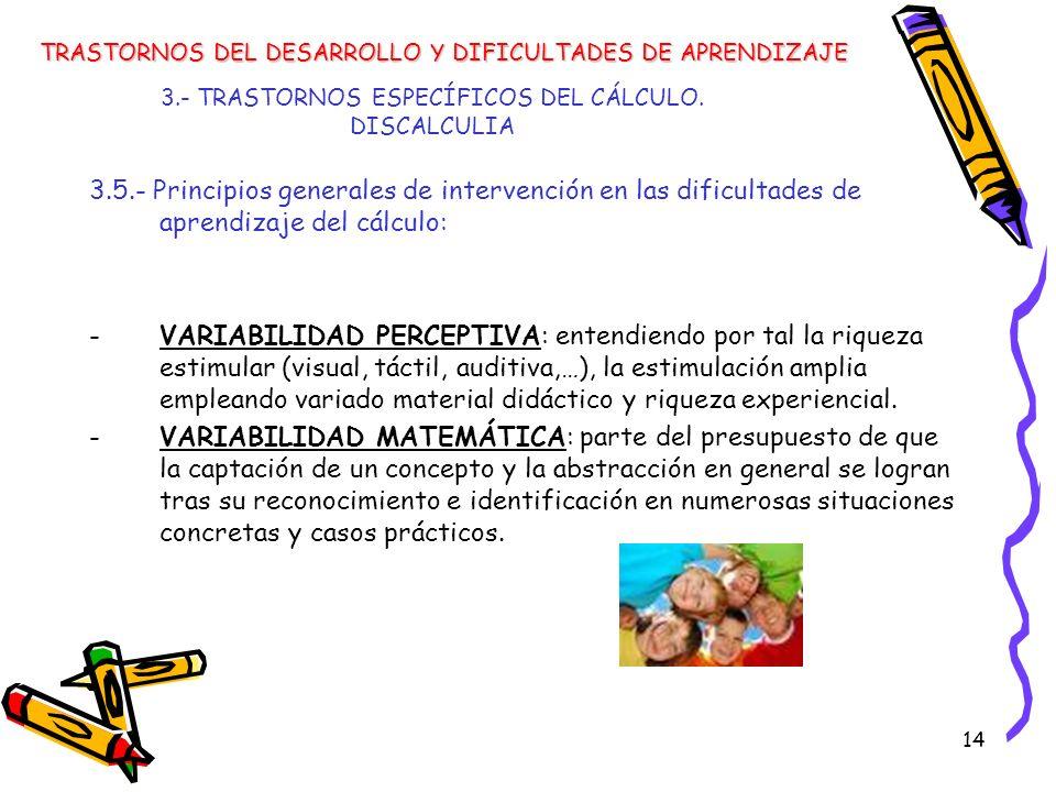 3.- TRASTORNOS ESPECÍFICOS DEL CÁLCULO. DISCALCULIA