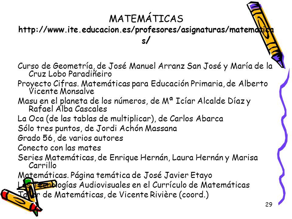 MATEMÁTICAS http://www. ite. educacion