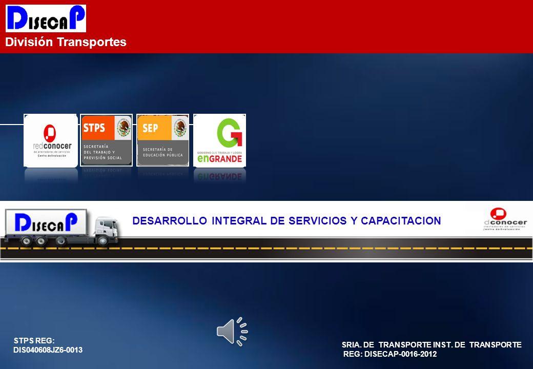 División Transportes DESARROLLO INTEGRAL DE SERVICIOS Y CAPACITACION