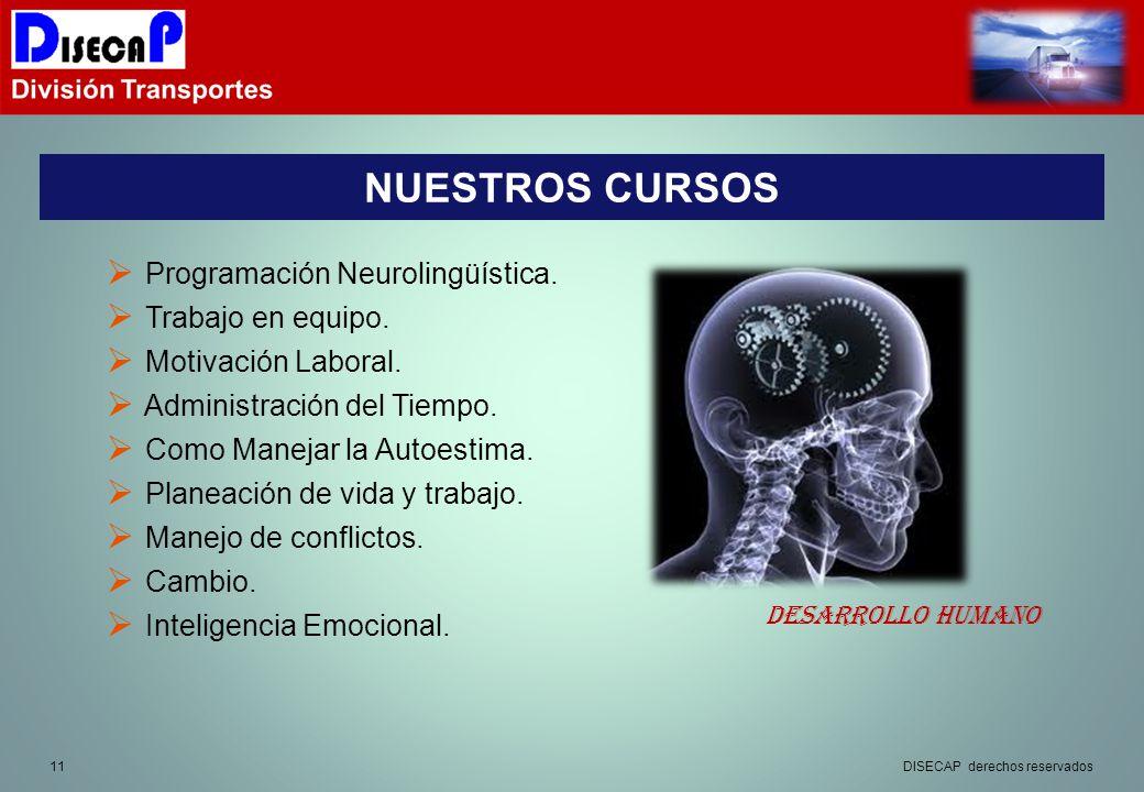NUESTROS CURSOS Programación Neurolingüística. Trabajo en equipo.