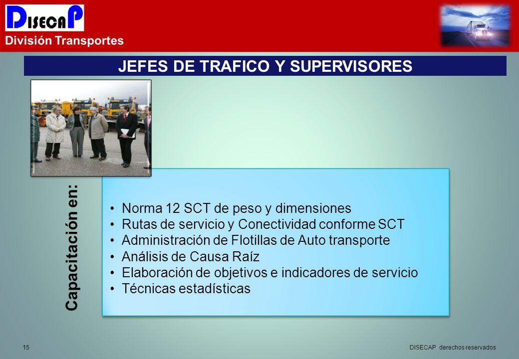 JEFES DE TRAFICO Y SUPERVISORES