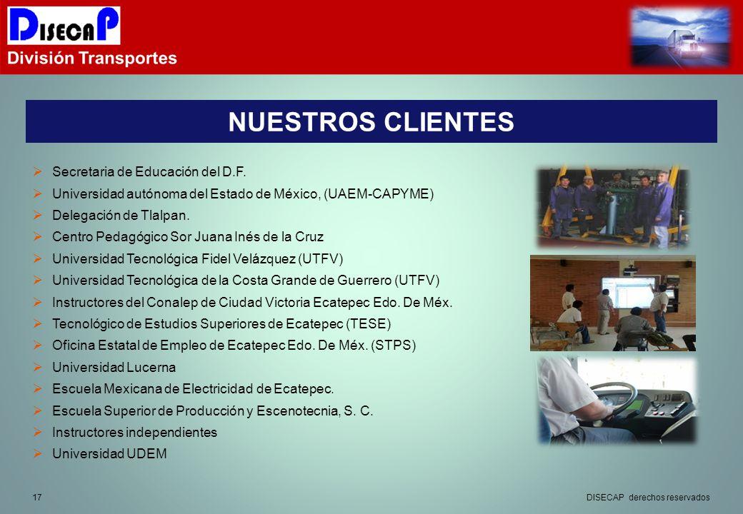 NUESTROS CLIENTES Secretaria de Educación del D.F.