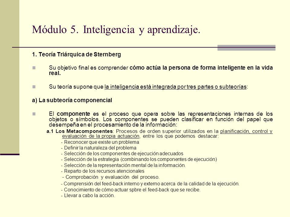 Módulo 5. Inteligencia y aprendizaje.