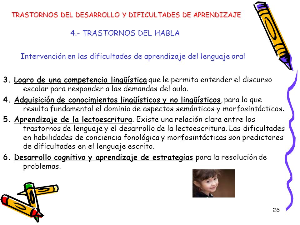 Intervención en las dificultades de aprendizaje del lenguaje oral