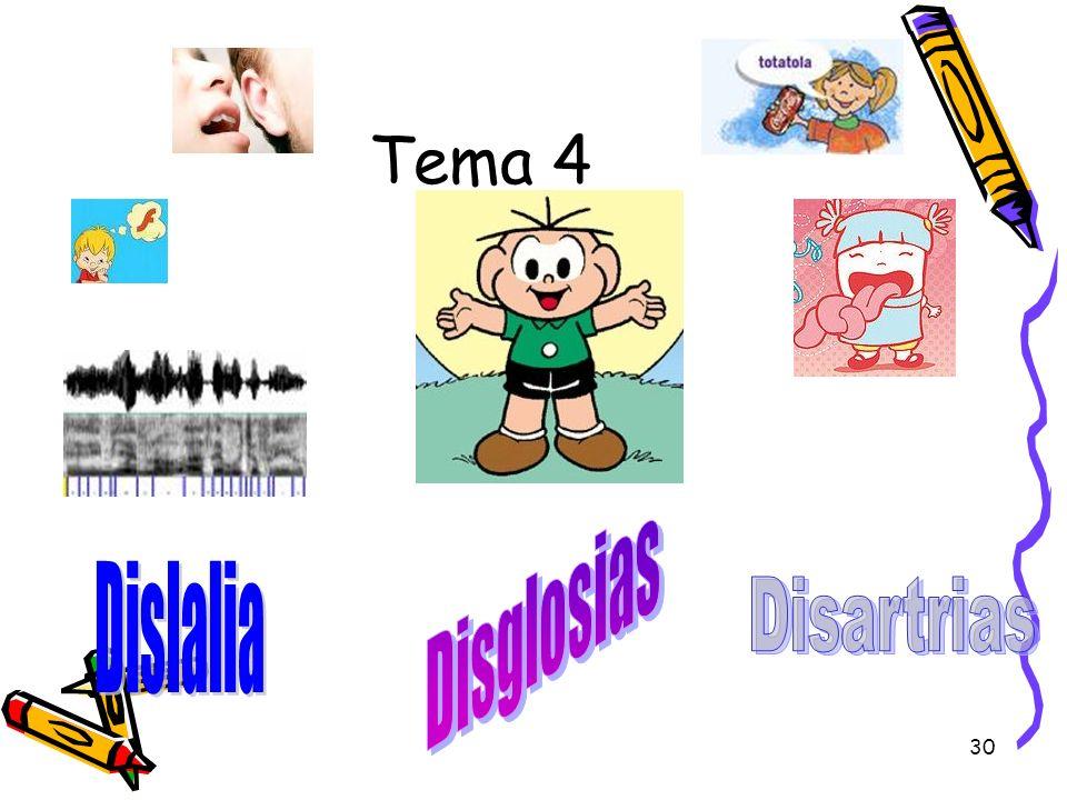 Tema 4 Disglosias Dislalia Disartrias