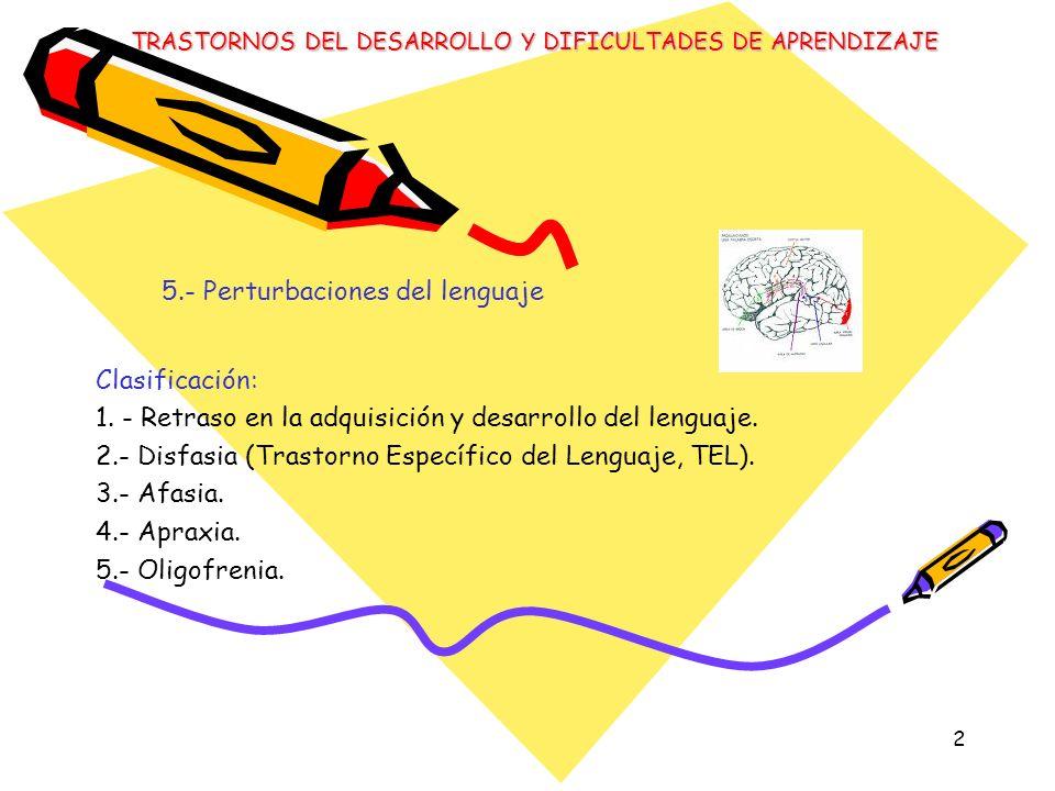 5.- Perturbaciones del lenguaje