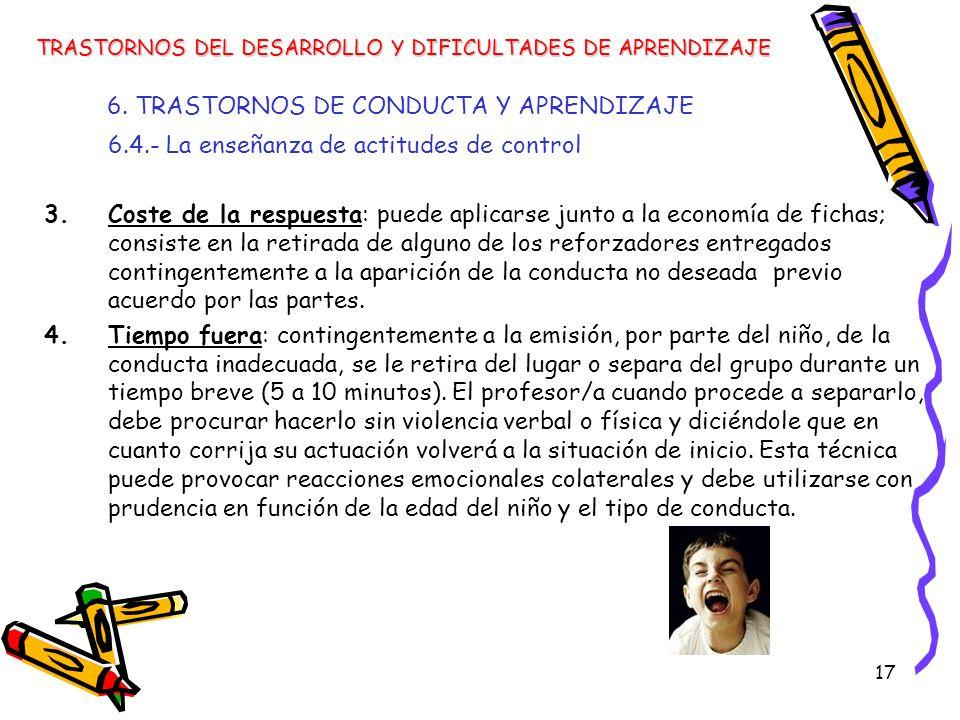 6. TRASTORNOS DE CONDUCTA Y APRENDIZAJE
