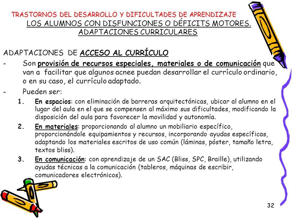 ADAPTACIONES DE ACCESO AL CURRÍCULO