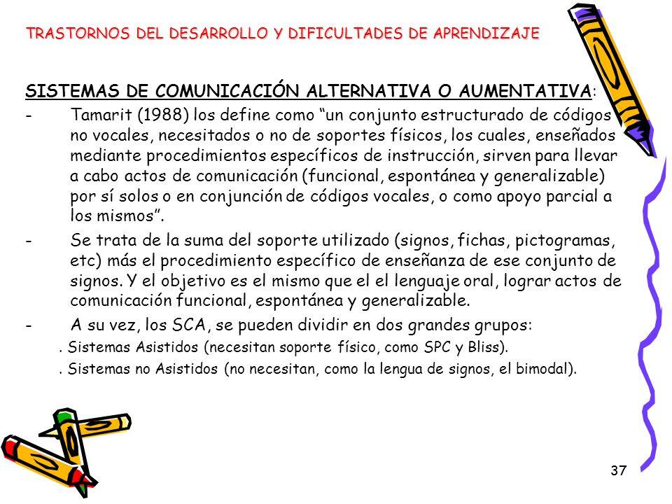 SISTEMAS DE COMUNICACIÓN ALTERNATIVA O AUMENTATIVA: