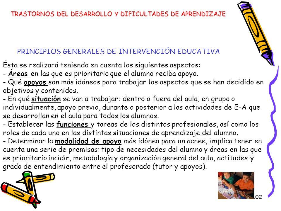 PRINCIPIOS GENERALES DE INTERVENCIÓN EDUCATIVA