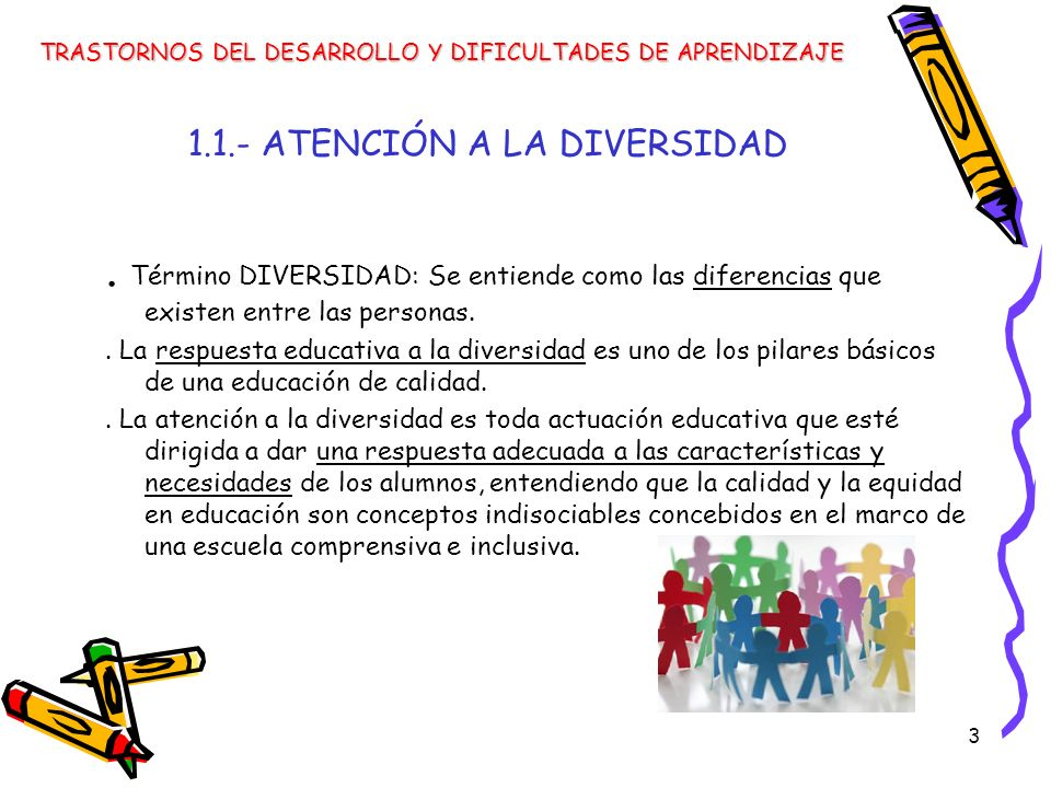 1.1.- ATENCIÓN A LA DIVERSIDAD