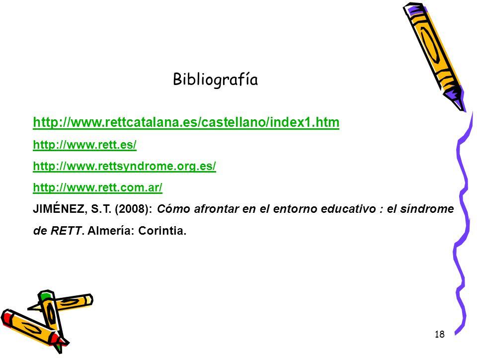 Bibliografía http://www.rettcatalana.es/castellano/index1.htm