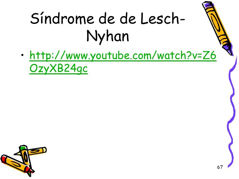 Síndrome de de Lesch-Nyhan