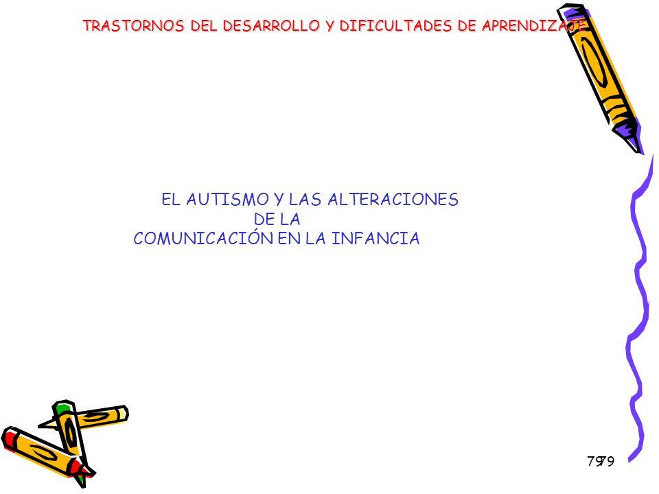 EL AUTISMO Y LAS ALTERACIONES DE LA COMUNICACIÓN EN LA INFANCIA