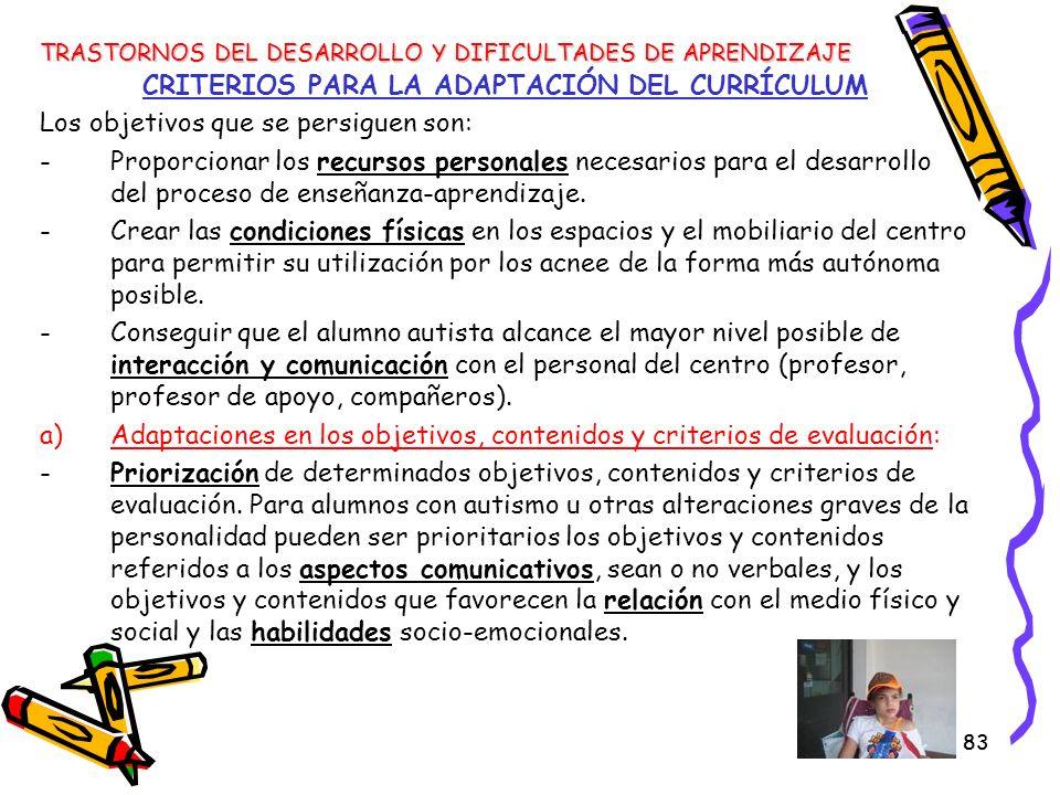 CRITERIOS PARA LA ADAPTACIÓN DEL CURRÍCULUM