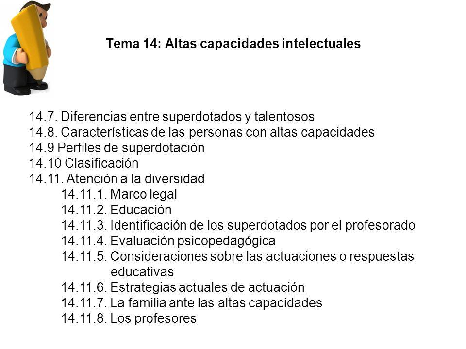Tema 14: Altas capacidades intelectuales