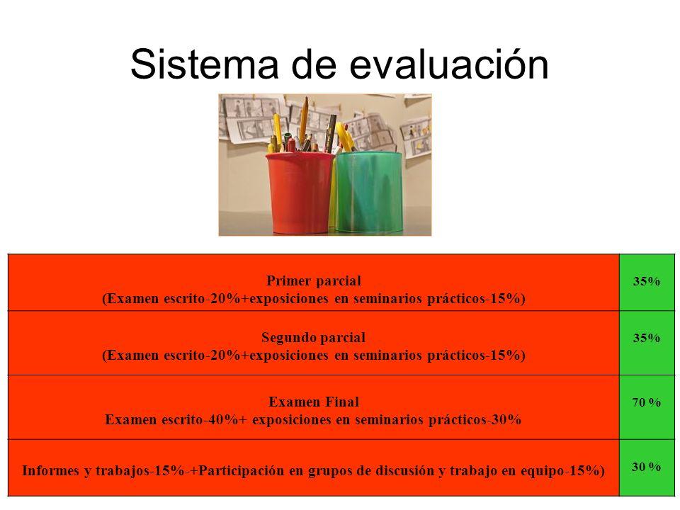 Sistema de evaluación Primer parcial