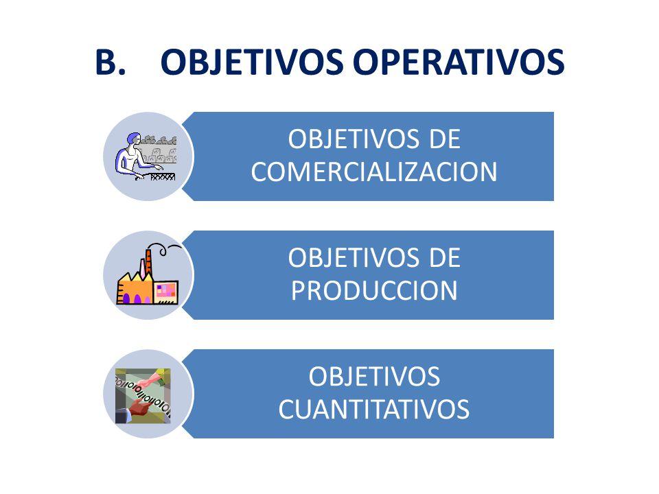 B. OBJETIVOS OPERATIVOS