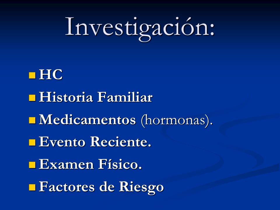 Investigación: HC Historia Familiar Medicamentos (hormonas).