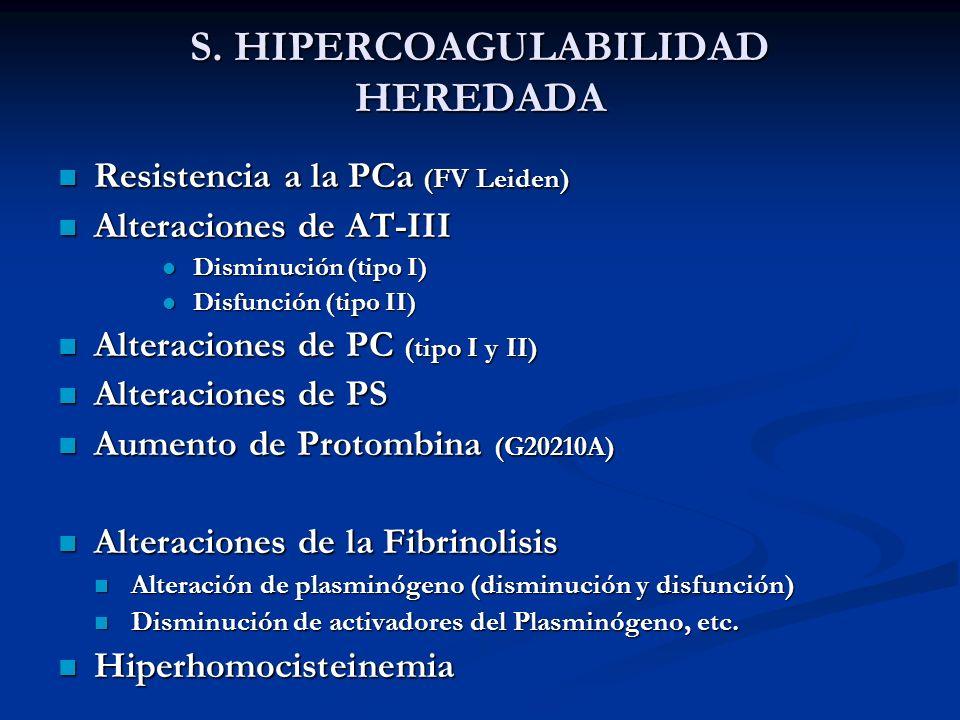 S. HIPERCOAGULABILIDAD HEREDADA