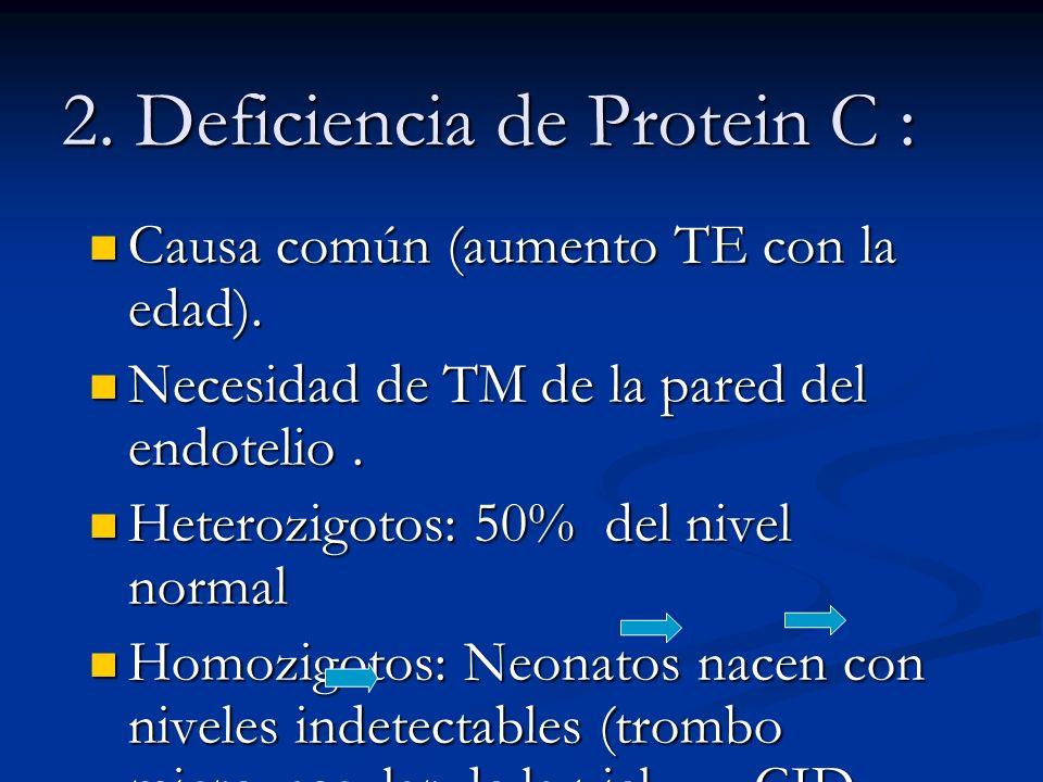 2. Deficiencia de Protein C :