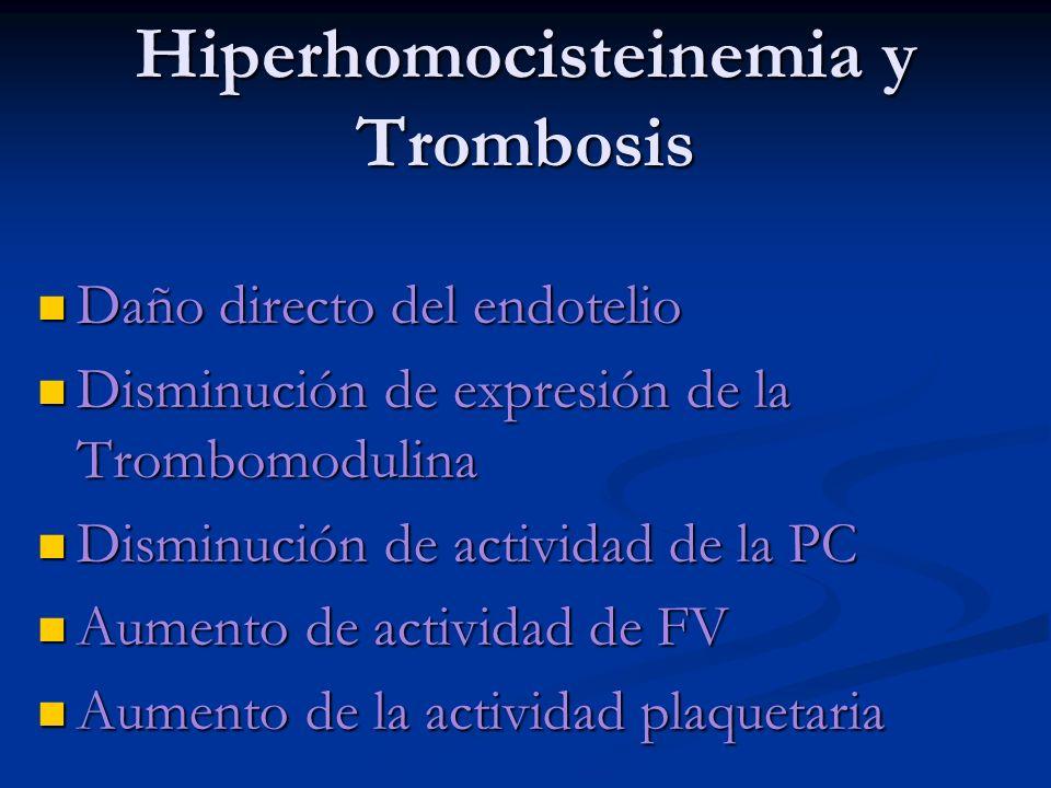 Hiperhomocisteinemia y Trombosis