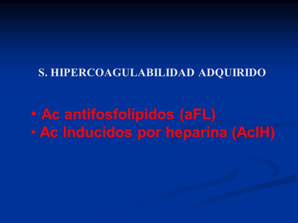 S. HIPERCOAGULABILIDAD ADQUIRIDO
