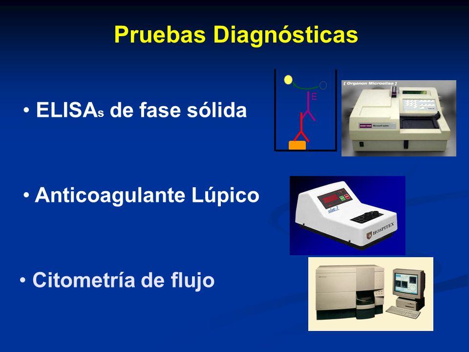 Pruebas Diagnósticas ELISAs de fase sólida Anticoagulante Lúpico