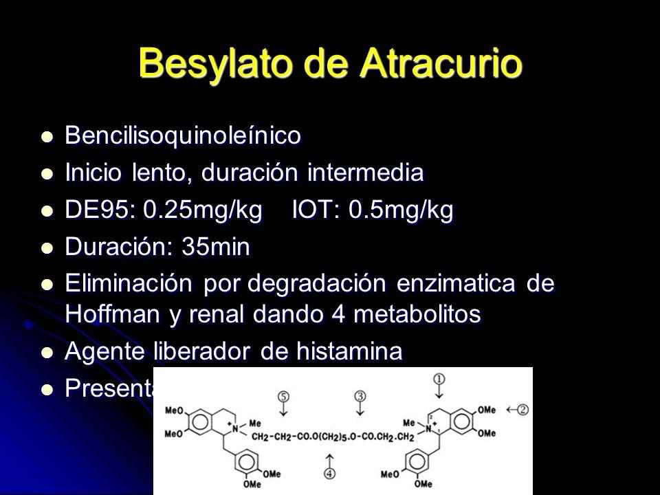 Besylato de Atracurio Bencilisoquinoleínico