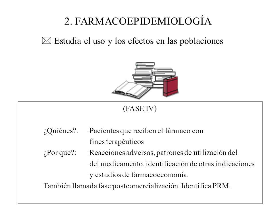 2. FARMACOEPIDEMIOLOGÍA
