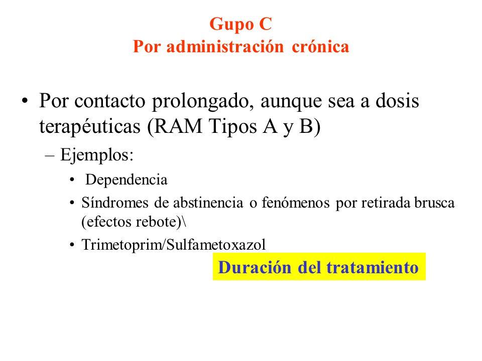 Gupo C Por administración crónica
