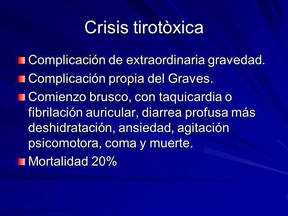 Crisis tirotòxica Complicación de extraordinaria gravedad.