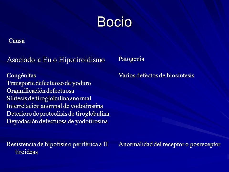 Bocio Asociado a Eu o Hipotiroidismo Causa Patogenia Congénitas